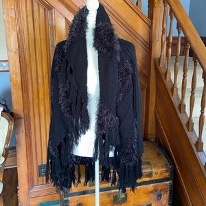 Black witchy vibes open cardigan sweater